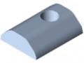 T-Slot Nut 12 St M10, heavy-duty, bright zinc-plated