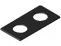 Schlitten-Abdeckkappe 8 160x80 D25, schwarz