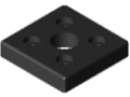 Pneumatic Connecting Plate 8 80x80 R1″, black