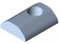 T-Slot Nut 8 St M8, heavy-duty, bright zinc-plated
