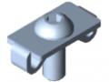 Standard-Fastening Set 8 E, bright zinc-plated