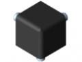 Fastening Set 5 20x20x20, black