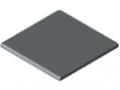 Cap X 8 40x40, grey similar to RAL 7042