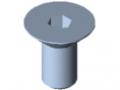 Countersunk Screw DIN 7991 M10x20, bright zinc-plated