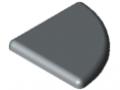 Cap 8 R40-90°, grey similar to RAL 7042