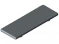 Angle Bracket Cap 8 80x80, grey similar to RAL 7042
