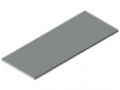 Table Top 25-1500x600 plastic coated, grey, similar to RAL 7035
