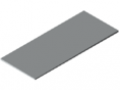 Table Top 25-1800x750 plastic coated, grey, similar to RAL 7035
