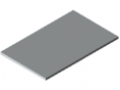 Table top 30-1200x750, high pressure laminate, grey, similar to RAL 7035