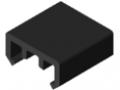 Slide Strip D30 ESD, black similar to RAL 9005