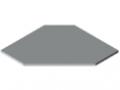 Tischplatte TRIGO 30-750 HPL, grau ähnlich RAL 7035