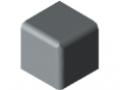 Verbinder-Abdeckkappe 5 20x20x20, grau ähnlich RAL 7042