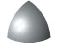 Verbinder-Abdeckkappe 5 R20-90°, grau ähnlich RAL 7042