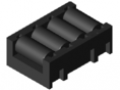 Roller Insert 4xD11 ESD, black similar to RAL 9005