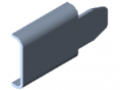Retaining Plate, Guide Rail e, bright zinc-plated