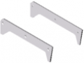 Supply Profile 8 180x50 Assembly Set, white aluminium, similar to RAL 9006