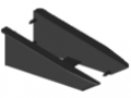 Grab Plate Profile 8 140x50 Assembly Set ESD, black