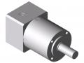 Gearbox AP 40-7, white aluminium, similar to RAL 9006