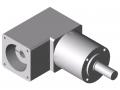 Gearbox WP 40-3, white aluminium, similar to RAL 9006