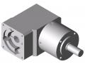 Gearbox WP 60-7, white aluminium, similar to RAL 9006