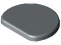 Abdeckkappe Profilrohr 8 D30, grau ähnlich RAL 7042