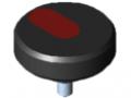 Rändelschraube Pi D54 M8x15 PA, schwarz