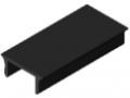 Abdeckprofil 8 Al, schwarz