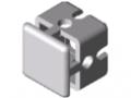 Klemmprofil-Kreuzverbinder 6 30x30, weißaluminium ähnlich RAL 9006