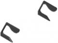 Griffleistenabdeckkappensatz X, schwarz