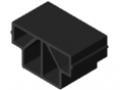Castor Rail 8 40x40, Slide Strip ESD, black