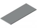 Tischplatte 25-1500x600 kunststoffbeschichtet, grau ähnlich RAL 7035
