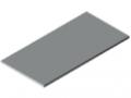 Tischplatte 30-1500x750 HPL-beschichtet, grau ähnlich RAL 7035