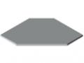 Tischplatte TRIGO 25-600 kunststoffbeschichtet, grau ähnlich RAL 7035