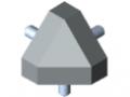 Fastening Set 6 30x30-45°, grey similar to RAL 7042
