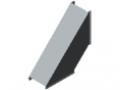 Kanal-Eckabdeckkappe 8 40 - XMS, grau ähnlich RAL 7042