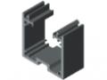Kanalprofil U 40x40 K, grau ähnlich RAL 7042