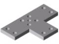 Transport- und Fußplatte X 8 240x160-2x90° M16