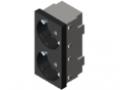 Steckdose 33° M45 2-fach, schwarzgrau ähnlich RAL 7021