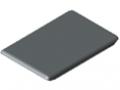 Automatik-Winkel-Abdeckkappe 8 40x40, grau ähnlich RAL 7042