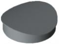Cap D30 R15, grey similar to RAL 7042