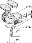 Dreisternschraube Pi D34 M5x15 PA, schwarz