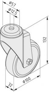 Lenkrolle D100 antistatisch