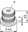 Threaded Insert, Profile Tube D40 M10 Al, natural
