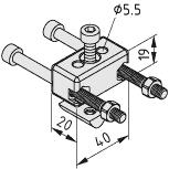 Zahnriemenspanner Gegenlager 8 R25