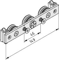 C-Schiene, Lagersatz 6 D10 3R