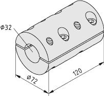 Synchronwellen-Ausgleichskupplung VK32