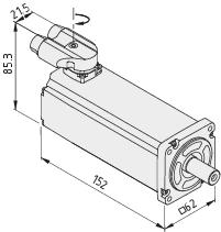Motor SE 60-150-3-60-R, white aluminium, similar to RAL 9006