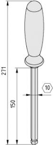 Kugelkopf-Schraubendreher SW10