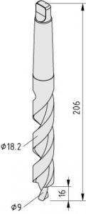 Stufenbohrer, Zentral-Verbindung 10