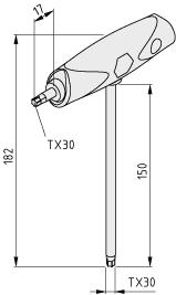 Schraubendreher mit Quergriff TX30